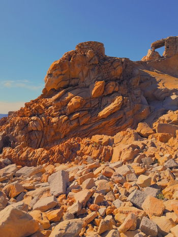 Rock Formation on Sardinia Sardinia Spargi Italy Tourism Destination Nature Photography Blue Sunlight Rock - Object Fossil Wilderness Nature Reserve Extreme Terrain Rock Formation Eroded Natural Arch Physical Geography Sandstone Canyon Natural Landmark Geology