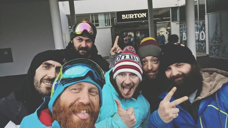 Friend Happiness Beard People Snow ❄ Snowbording Burtonsnowboards Burtonstore Innsbruck