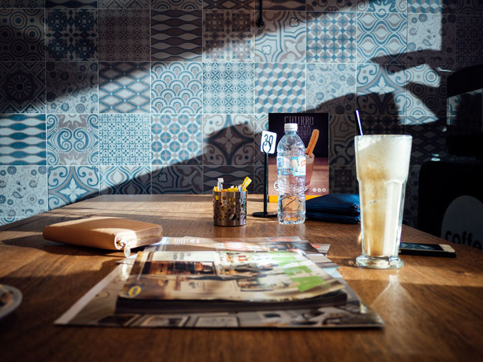 Atmosphere Cafe City Life Dramatic Light And Shadow Mood Still Life Sunset
