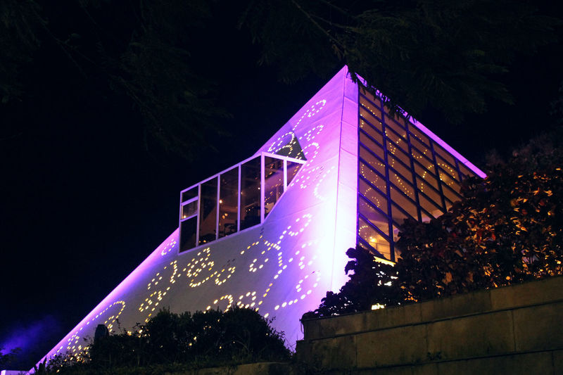 Architecture Building Exterior Built Structure Celebration Decoration Event Glowing Illuminated Lighting Equipment Low Angle View Nature Night No People Outdoors Plant Sky Travel Destinations Tree Water