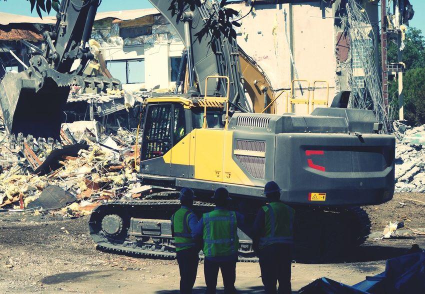 Excavator Heavy Machinery Construction Machinery Construction Workers Demolition Demolition Zone Demolishing