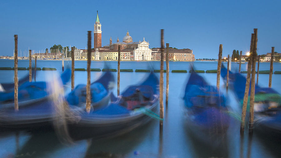 Venice Blue Hour EyeEm Selects Gondola - Traditional Boat City Water Clock Tower Nautical Vessel Moored Reflection Architecture Office Building Bell Tower - Tower Cityscape Urban Scene