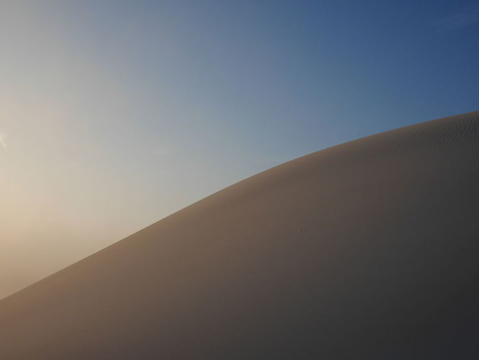 Sand Dune Clear Sky Desert Sand Arid Climate Blue Backgrounds Summer Sky Landscape