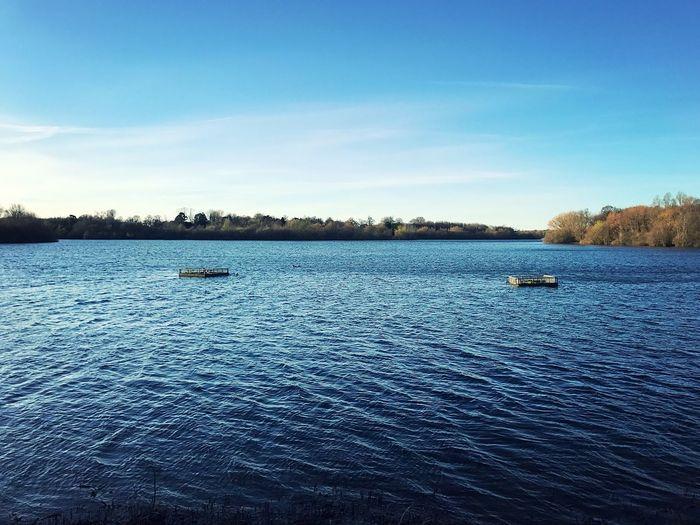 Alton Water Lake Sunshine Water Outdoors No People Walking Dayout