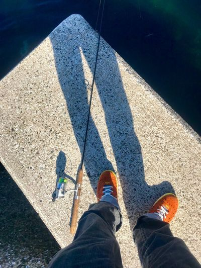 Sunlight Real People Shadow Low Section Human Leg Body Part Personal Perspective