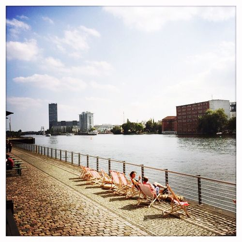 Forever is composed of nows. Berlin Universal Music Lunchtime Summer Enjoying The View
