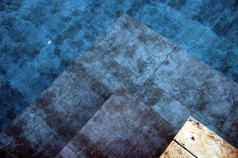 High angle view of water in swimming pool