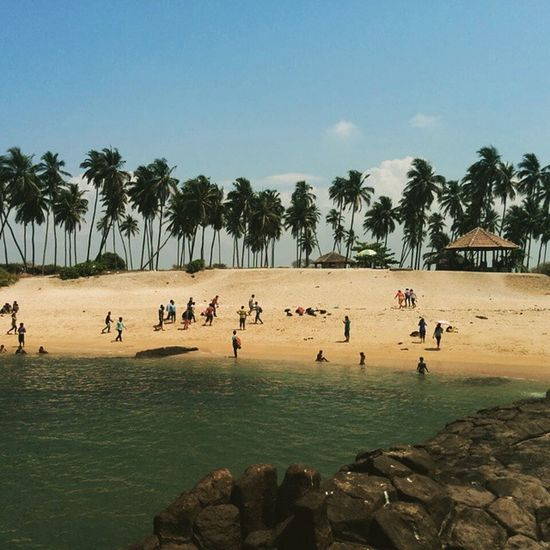 Beach Greenseas Coconuttrees Bluesky Beauty Mothernature Divine Friends Weekendtrip Stmary 'sIsland Udupi India