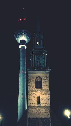Berlin Night No People Architecture Travel Destinations Tower Fernsehturm City