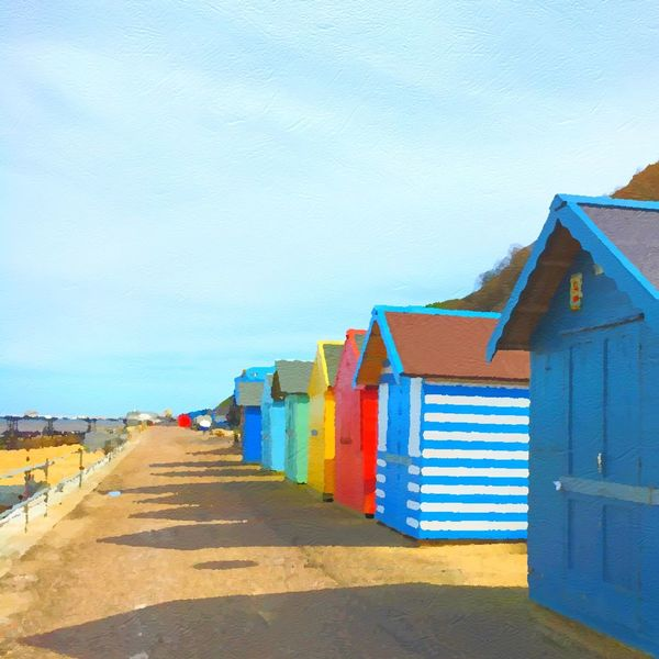 In Cromer, Uk today! Used an app so it looks like a painting. Hanging Out Dayout Beach Beachphotography Beachhut Beach Life Beach Photography Showcase April Enjoying Life Hello World Adventure Colourful Colours Cromer Norfolk Check This Out