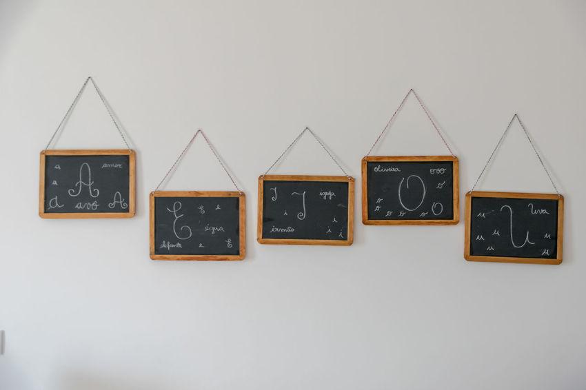 Blackboard Alphabet Blackboard  Close-up Communication Day No People Outdoors Text Triangle Shape