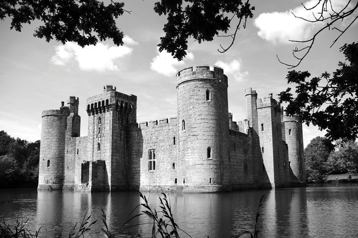 Bodiam Castle Architecture History Castle Medieval Tower Water Building Exterior Lake Historic City Black&white Black & White Friday Black And White Collection  Travel Photography Arts Is Everywhere Cityscape Black And White Friday Old Ruin Travel Destinations Old-fashioned Architecture Castle Historic Building Landscape Arts Culture And Entertainment Be. Ready.