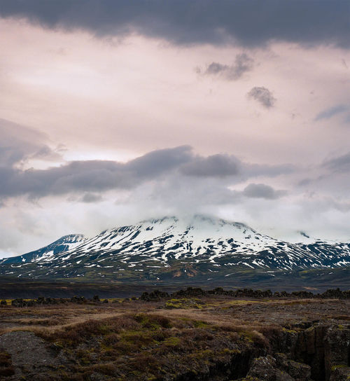 Iceland Melancholic Landscapes Tranquility Wall Paper Beauty In Nature Blue Cloud - Sky Clouds Cold Temperature Day Idyllic Landscape Melancholy Mountain Mountain Peak Mountain Range Nature No People Outdoors Scenics - Nature Sky Snow Snowcapped Mountain Tranquility Winter
