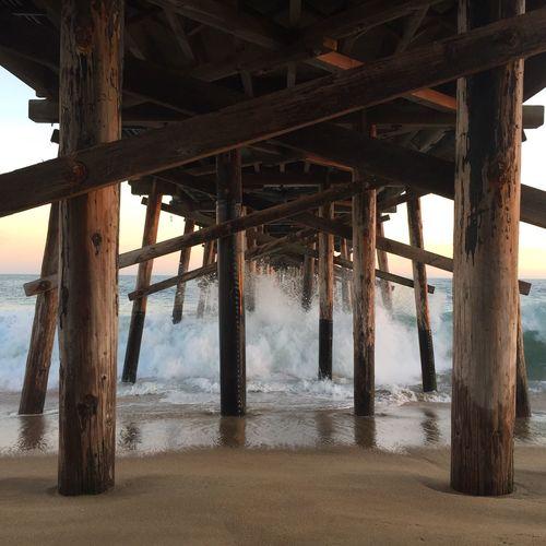 IPhone Photo Of The Day EyeEm Best Shots Balboa Pier Newport Beach Under The Boardwalk (null)