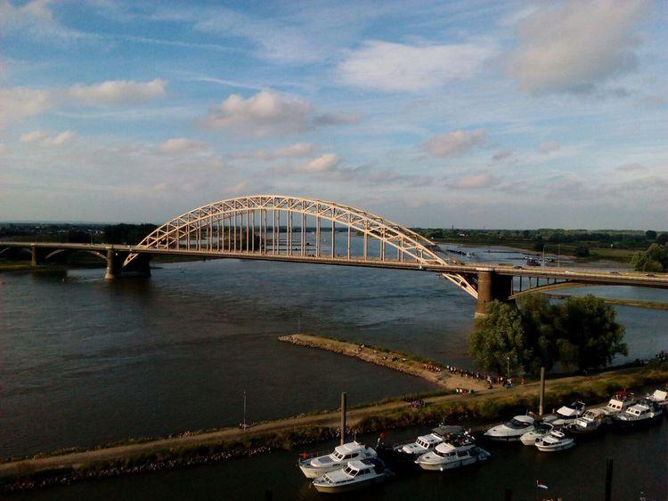 Bridge Water River Boats Boat Nijmegen Netherlands Waalbrug Nijmegen