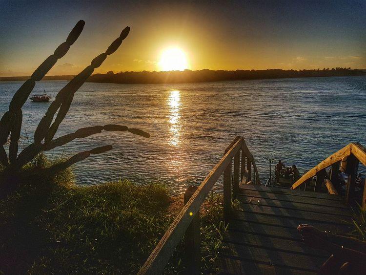 Photo taken with *Galaxy Note8 - Samsung Water Sunset Beach Sunlight Lake Sun Tree Silhouette Sky Landscape First Eyeem Photo