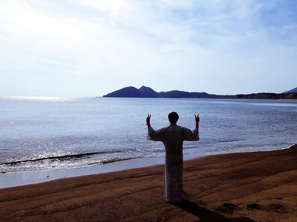 Trip Photo Japan Kagoshima Kagosima Ocean Sea Men Sky Outdoors Nature Only Men