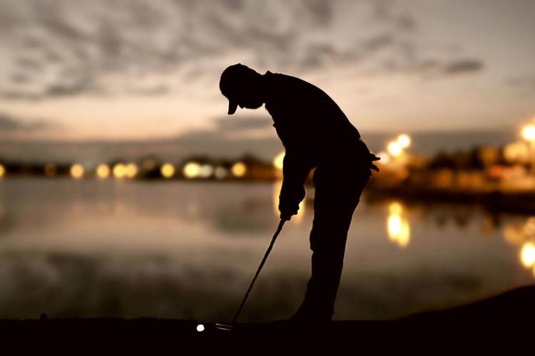 Day Fishing Focus On Foreground Full Length Golf Holding Leisure Activity Men Nature One Person Outdoors People Real People Silhouette Sky Standing Sunset Water
