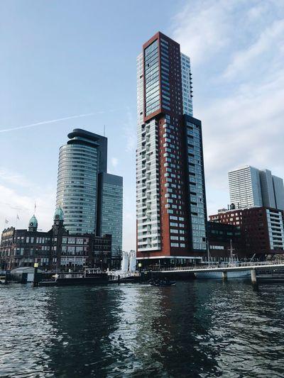 Rotterdam Kop Van Zuid Netherlands Buildings City Cityscape Architecture Rotterdam