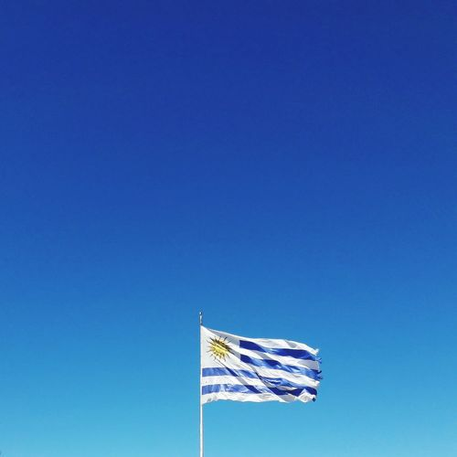 Uruguay Uruguay Uruguay Flag Clear Sky Blue Patriotism Flag Pride Waving Cultures Freedom Wind National Icon National Flag Flag Pole Independence