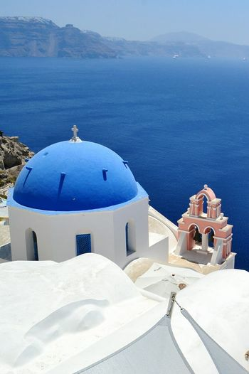 The same color of the sea Santorini Island Cyclades Greece Grecia Cicladi Dome Architecture Blue Scenics Landscape Outdoors Nature White Sea Greekarchitecture My Year My View Miles Away
