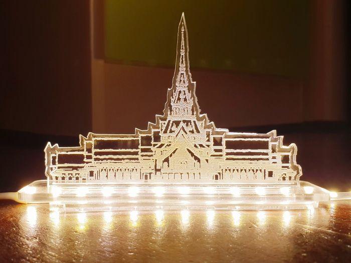 Illuminated City Celebration Close-up Architecture