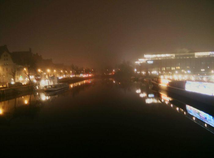 Lübeck bei Nebel Foggy