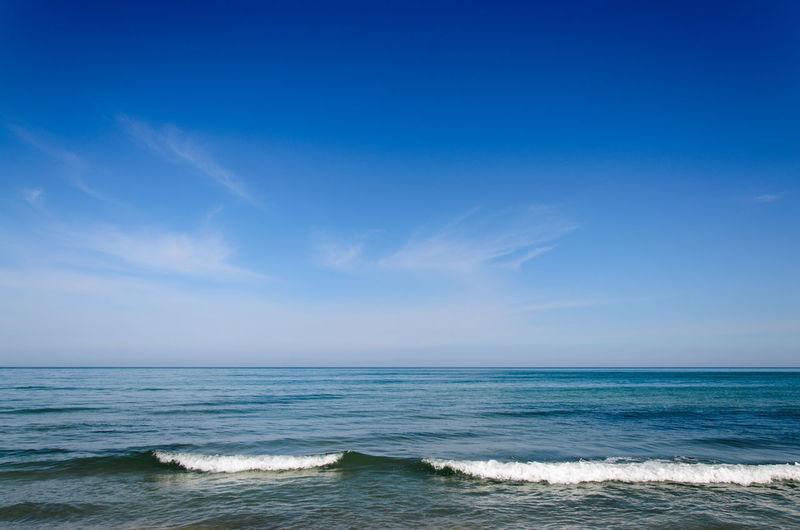 Black Sea Constanta Romania Sea Seascape Shore Vacations Water Waves