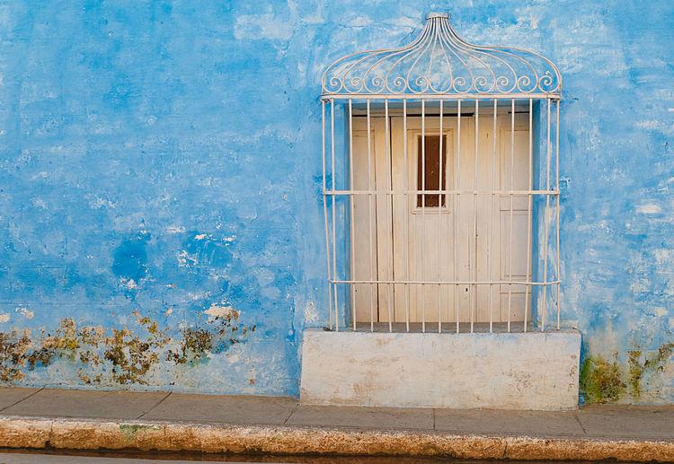 white window on