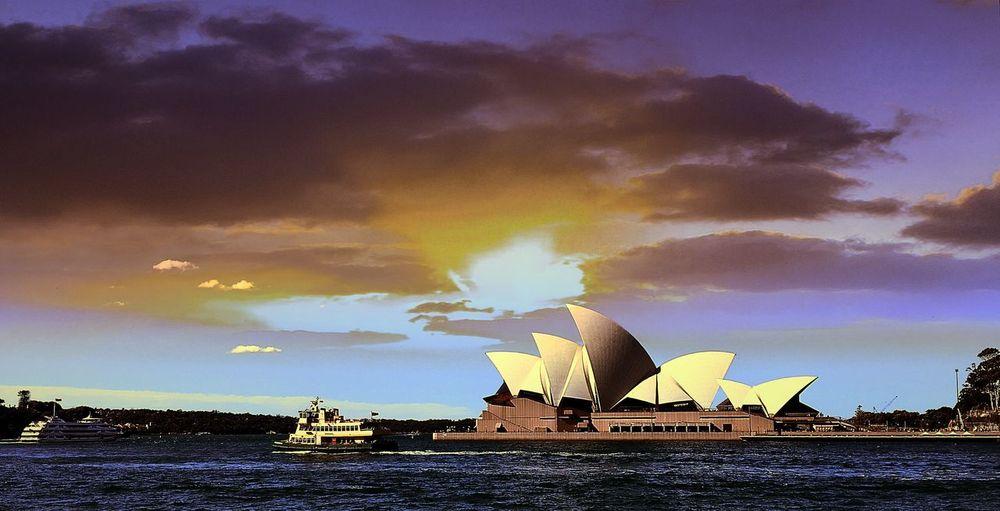Opéra Enjoying Life Sunset Sunset Silhouettes