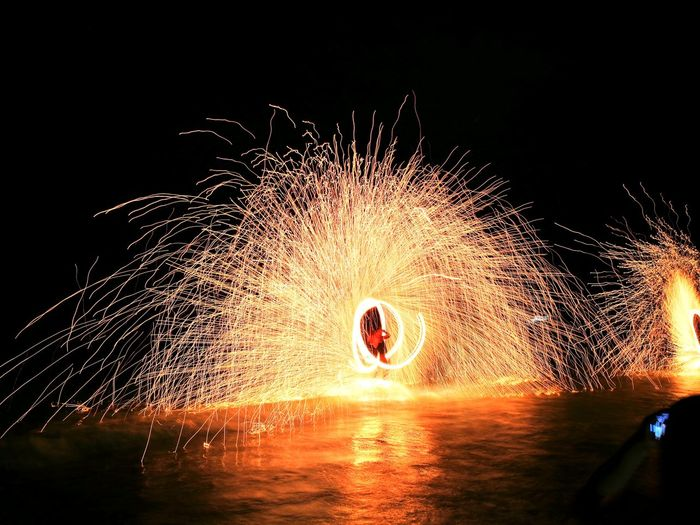 fire and 🔥 Motion Water Blurred Motion Sky Entertainment Light Painting Firework - Man Made Object Long Exposure Event