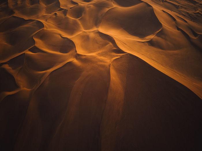 Full frame shot of sand dune in desert