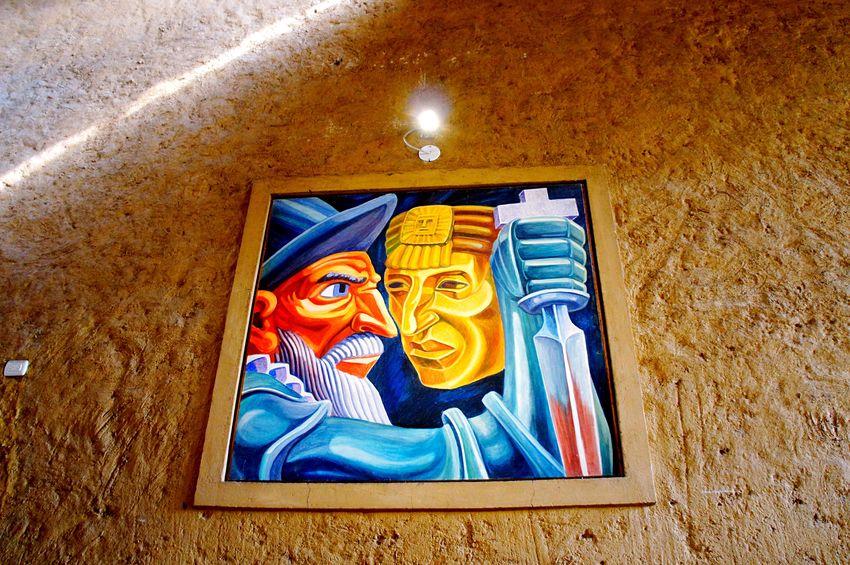 Spanish & Incas / Cuarto De Rescate Cajamarca-Perú Pain Art History ArtWork EyeEm Best Shots EyeEm Nature Lover EyeEm Gallery EyeEm Human Representation Close-up Laviniafenton Peruvian Ancient EyeEmNewHere Travel Destinations Country Tradition Life Travel