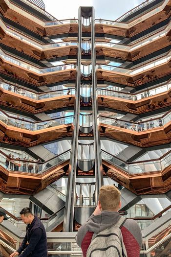 Hudsonyardnewyork Hudsonyards Hudson Yards Real People Day Built Structure Lifestyles Architecture Men Group Of People People High Angle View Steps And Staircases Staircase Metal Pattern Incidental People Transportation Railing Outdoors