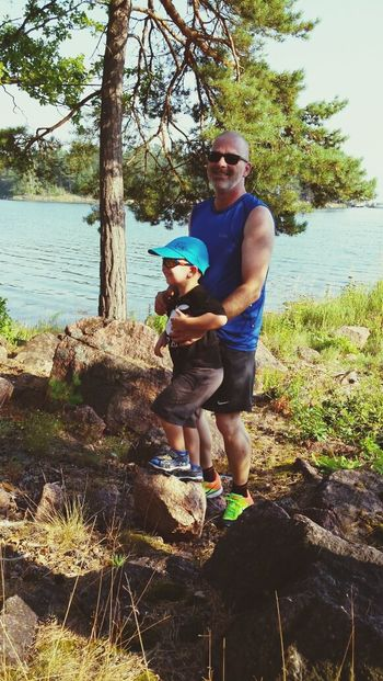 Sverige Holiday Family Me and my grandson. Make the first holidays with me and my wife. Enjoying Life