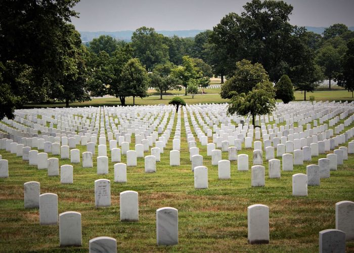 Arlington National Cemetery Arlington National Cemetary Cemetery Day Emotion Grass Grave History In A Row Memorial Nature No People Outdoors Plant Sadness Stone The Past Tombstone Tree Historic Mourning War Memorial Patriotism Honor Respect Heroes