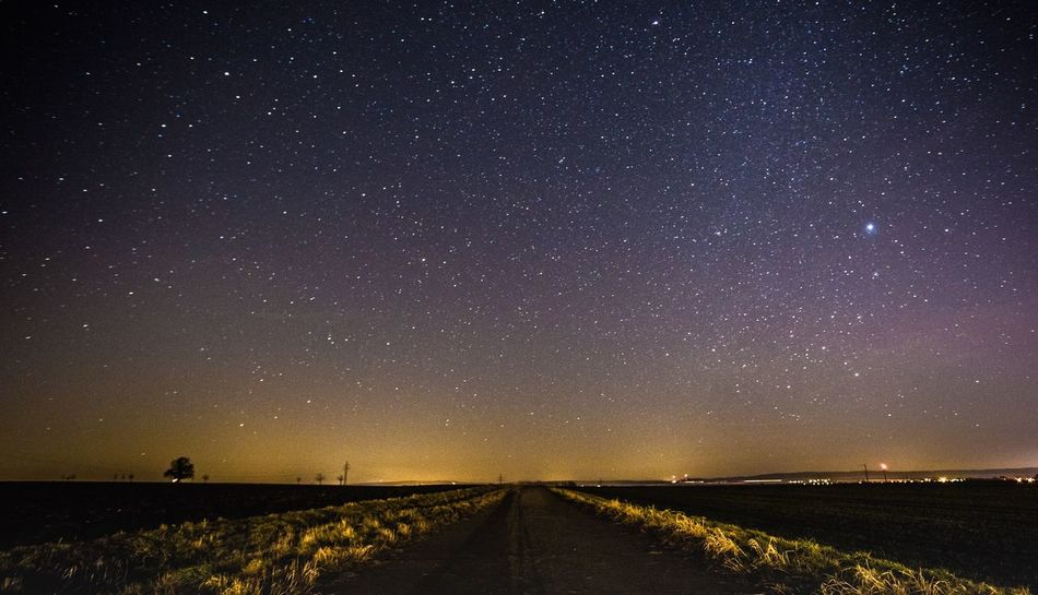 Feldweg in der Nacht nahe Hildesheim. Star - Space Night Astronomy Sky Galaxy Nature Tranquil Scene Beauty In Nature Outdoors Tranquility No People Landscape Nightphotography Space Galaxy Way Freedom Star Field Scenics Tranquil Place Star Peaceful Universe Nature Long Exposure