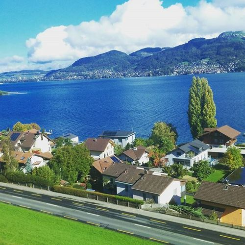 Spiez Switzerland Swisslife Sunday Travel Bls Lovelyplanet Red Blue Green SBB Sbbcffffs Bahn Instamood Instaupload Insta like Nstaswitzerland @visitswitzerland @swissmonamour @travelswitzerland Swiss Livelifetothefullest Followme Suisse  Schweiz