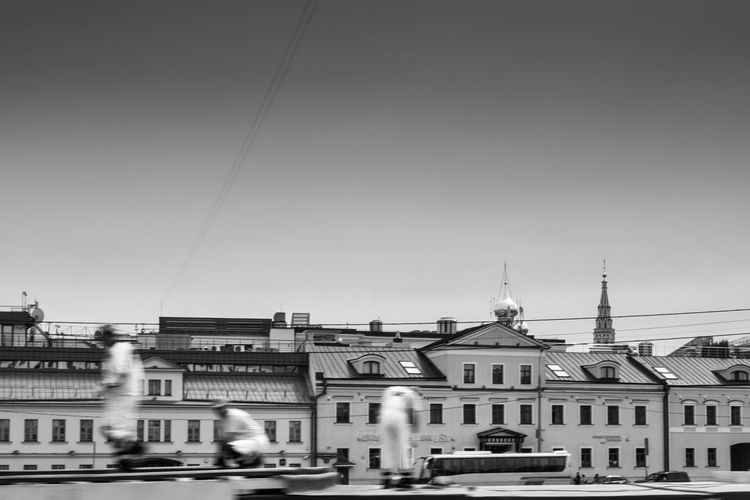 Architecture Blackandwhite Building Exterior Built Structure City City Clear Sky Day Moscow Outdoors People Russia Sky Travel USSR,