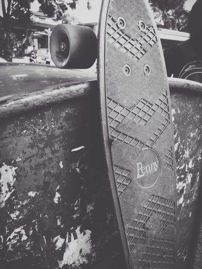 Penny + skateboard