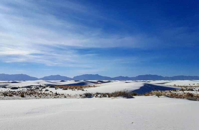 White Sands National Monument Mountain Beauty In Nature Nature Mountain Range No People White Sand New Mexico Sand Dune