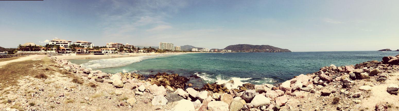 Ixtapa Beach Panoramic Photography