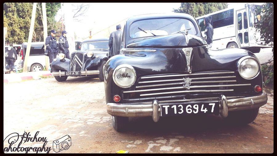 at a film shooting Cars Oldcars Oldcar Filming Peugeot