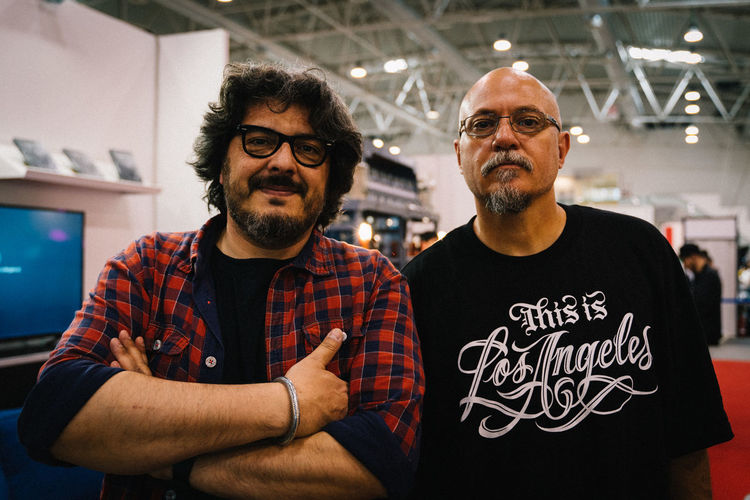 Me and Estevan Oriol at International Tattoo Expo Roma Eyeglasses  Portrait Beard Business Finance And Industry Mature Men Front View