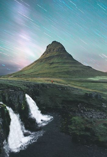 Icelandic Nights Kirkjufell Vacation Road Trip Travel Iceland Mountain Scenics - Nature Water Beauty In Nature Sky Star - Space Nature Night No People Tranquil Scene Environment Idyllic Astronomy Tranquility Space Galaxy Landscape Non-urban Scene Star Space And Astronomy