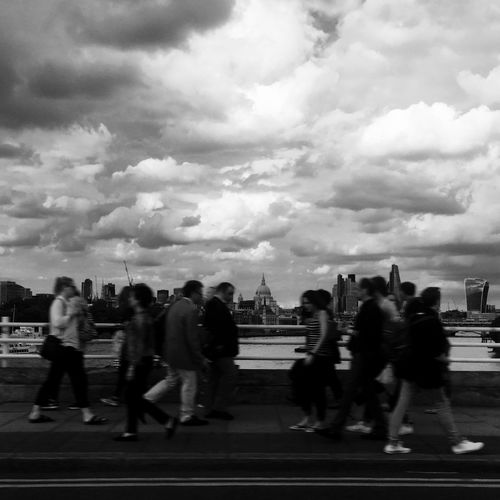 London coMotion Blackandwhite IPhoneography Bridge View Motion Blur First Eyeem Photo London Lifestyle