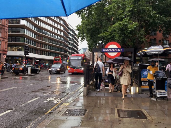 Rainy day in London, UK Bad Weather Cars EyeEm LOST IN London Public Transportation Rain Raining Underground Station  Weather Architecture Buildings Bus Car City People Rainy Real People Road Street Transportation Tree Tube Station  Umbrella Vehicle Vehicles From My Umbrella Postcode Postcards