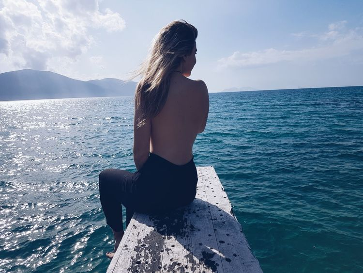 Feelfree Sea Beauty Summer Day Vacations Long Hair One Person Bestoftheday Summer2017🌞 Perfect Lifestyles Sky Is The Limit Detail