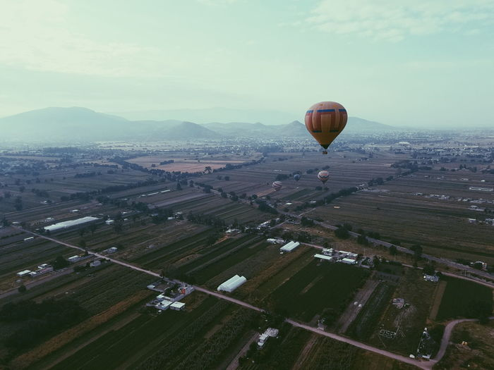 Aerial View Hot Air Balloon Taking Photos Hello World Enjoying The Sun Hanging Out