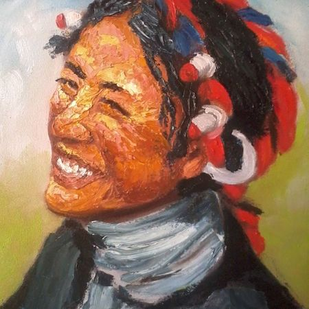 Dreaming of Tibet Tibet Brushstroke Palettes Oilpainting